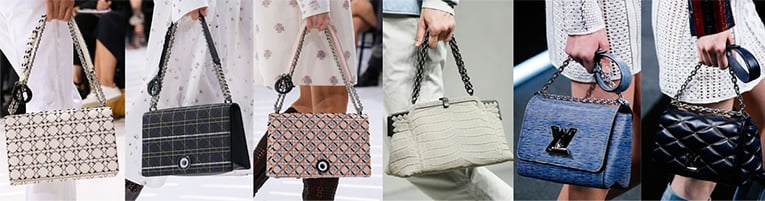 1, 2, 3  — Christian Dior, 4, 5, 6 — Louis Vuitton